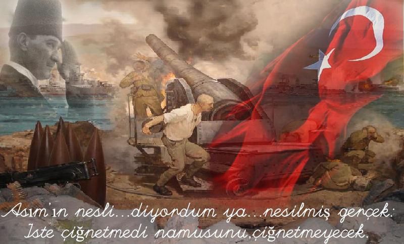 Üzerinde, 'Çanakkale Geçilmez' yazan altın madalya, 253 bin şehit anısına Türk Bayrağı'na takılacak.